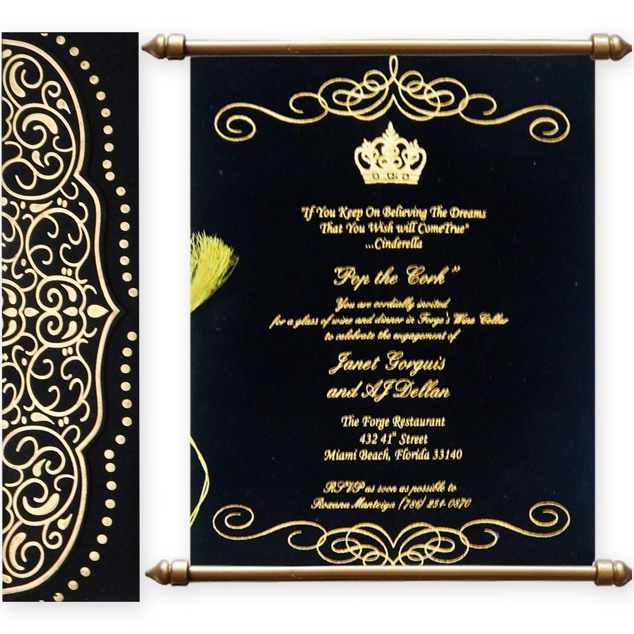 Scroll Indian Wedding Cards